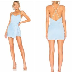 NWT NBD Venice Blvd Dress in French Blue